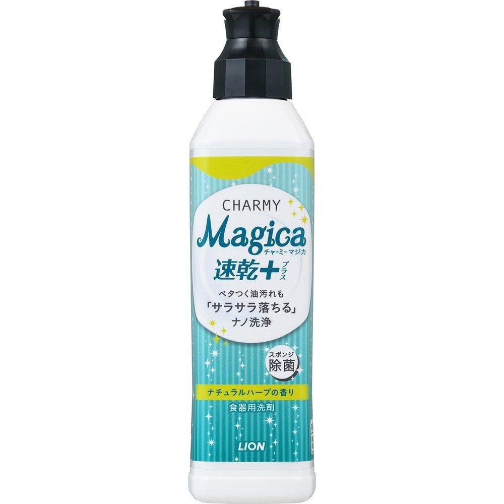 """Средство для мытья посуды LION """"Charmy Magica+"""" (концентрированное, с ароматом свежих трав) 220 мл (259503)"""
