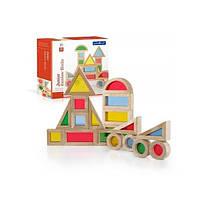 Деревянный набор уменьшенных блоков Block Play Маленькая радуга 20 шт Guidecraft G3082