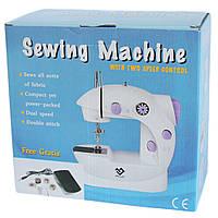 Домашняя швейная машинка Sewing machine 202, Швейная машинка на батарейках, Портативная мини швейная машинка