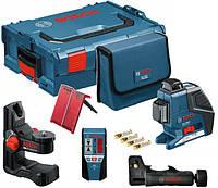 Линейный лазерный нивелир Bosch GLL 2-80 P + BM1 + LR2 (L-Boxx)