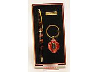 PN4-5852 Подарочный набор: ручка + брелок - фонарик. Ручка подарочная, Ручка в футляре 2 в 1, Сувенир мужчине
