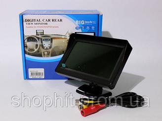 Дисплей LCD 4.3'' для двух камер 043, Автомобильный монитор, Цветной ЖК-монитор, Дисплей в авто для камеры