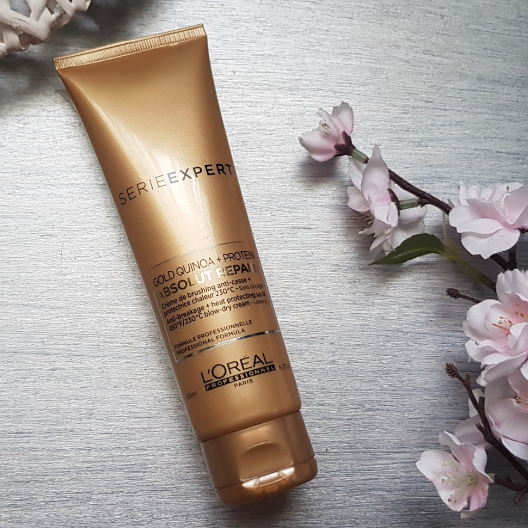 Термозащитный крем -L'Oreal Professionnel Absolut Repair Gold Qunoa+Protein CremaThermo Cream 125ml