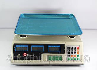 Торговые весы с дисплеем, Весы ACS 50kg/5g MS 228 Domotec 6V, Электронные весы, Весы для торговли