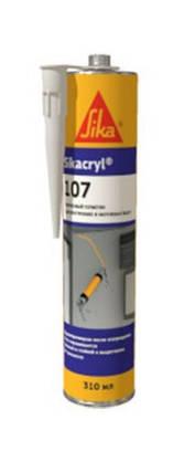 Sikacryl 107 - Эластопластичный герметик для наружного и внутреннего применения, белый, 310 мл, фото 2