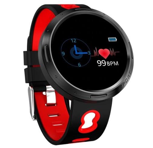 Спортивный фитнес браслет с измерением пульса и давления Smart band M58 Red