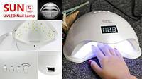 Профессиональная led-лампа, Сушилка для ногтей SUN 5 (A15), Лампа для сушки гелей и гель лаков, Лед лампа