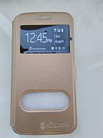 Чехол-книжка    для  Samsung S6 Edge (золото)