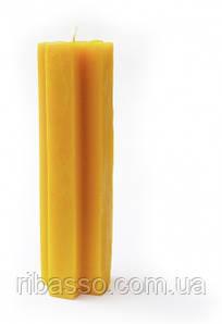"""9060185 Свеча """"Алтайский крест"""" Желтая Пчелиный воск"""