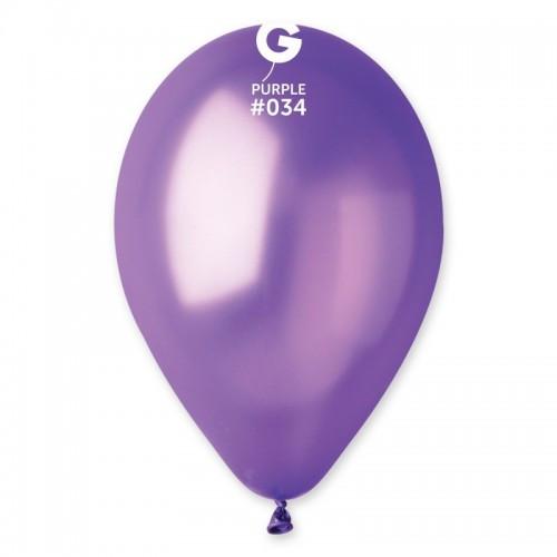 """Латексна кулька металік фіолетовий 10"""" / 34 / 26 см Purple"""