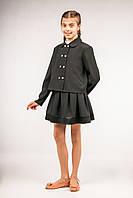 Пиджак школьный свободный для девочек, размер 30, 32, 34, 36, 38, 40. (П-62/3)