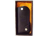 KC4 Ключница TOYOTA в подарочной упаковке, Черная карманная ключница, Ключница чехол мужской