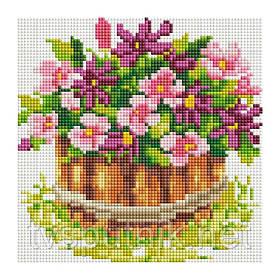 Мозаика на подрамнике Белоснежка Маленький цветник (Код: 321-ST-S)