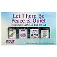 "Набір розслаблюючих ефірних масел NOW Foods ""Let There Be Peace & Quiet"" (4 флакони по 10 мл), фото 2"