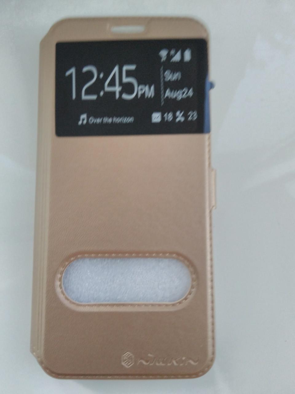 Чехол-книжка    для  Samsung  S8 Plus (золото)