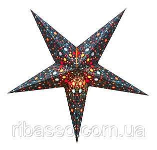 9050089 Светильник Звезда картонная 5 лучей BLACK UNIVERSE
