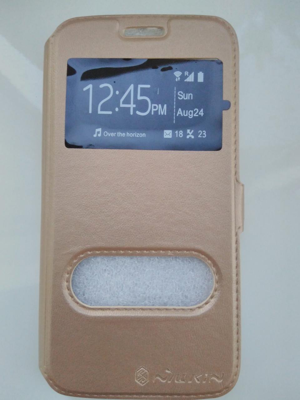 Чехол-книжка    для  Samsung  S6 (золото)