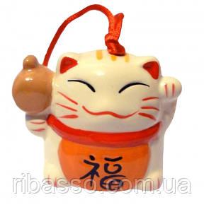 9320043 Счастливый кот - керамический колокольчик №1