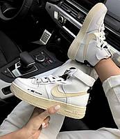 Женские Кроссовки Nike Air Force 1 High Utility White