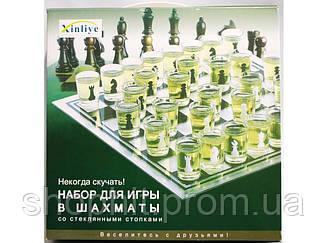 I5-43 Шахматы - рюмки малые, Набор для игр в шахматы со стопками, Настольные алкогольные игры