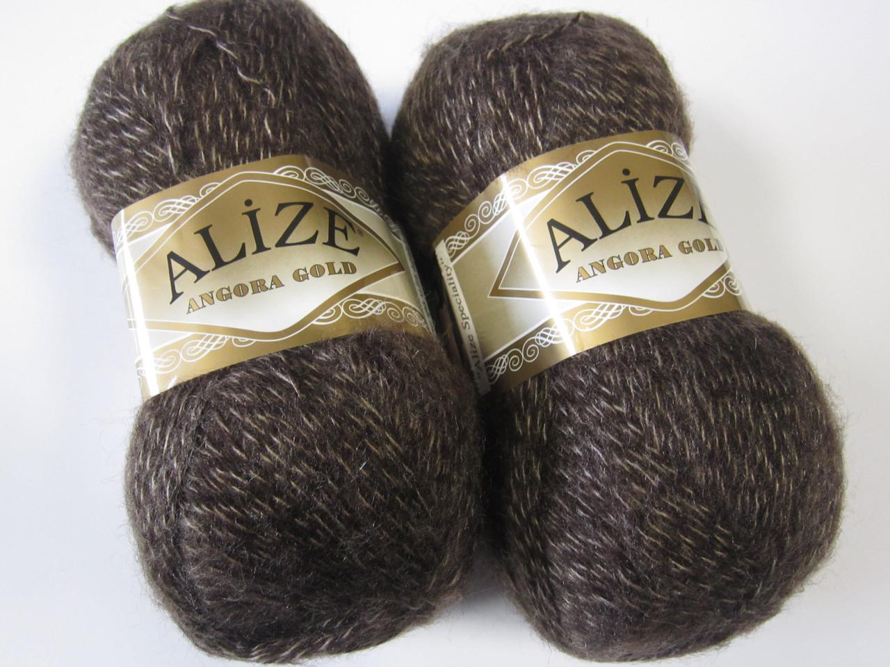 ANGORA GOLD 707 темно-коричневый - 20% шерсть, 80% акрил