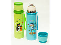 T144-42 Термос детский 500 мл с чашкой, Термос для ребенка, Питьевой термос, Термос из нержавейки