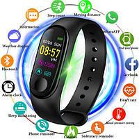 Трекер, Фитнес браслет, UWatch Band M3, Умные часы, Цветной экран, Smart часы, Smart браслет измерение пульса