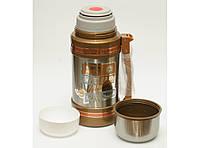 T124 Термос 1,5 л высокое качество 2 чашки, Термос из нержавейки, Вакуумный термос, Термос питьевой