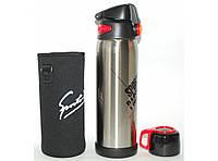T30 Термос высокого качества (2 крышки), Термос питьевой из нержавейки, Термос дорожный с чашкой