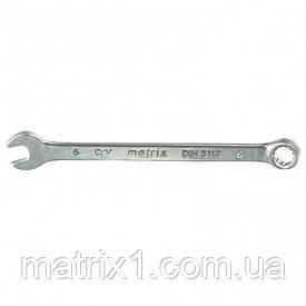 Ключ комбинированный 6 мм, CrV, матовый хром. MTX