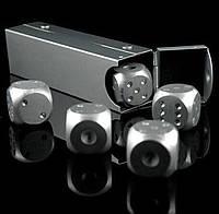 Игральные кости в футляре алюминиевые, набор 5 шт.