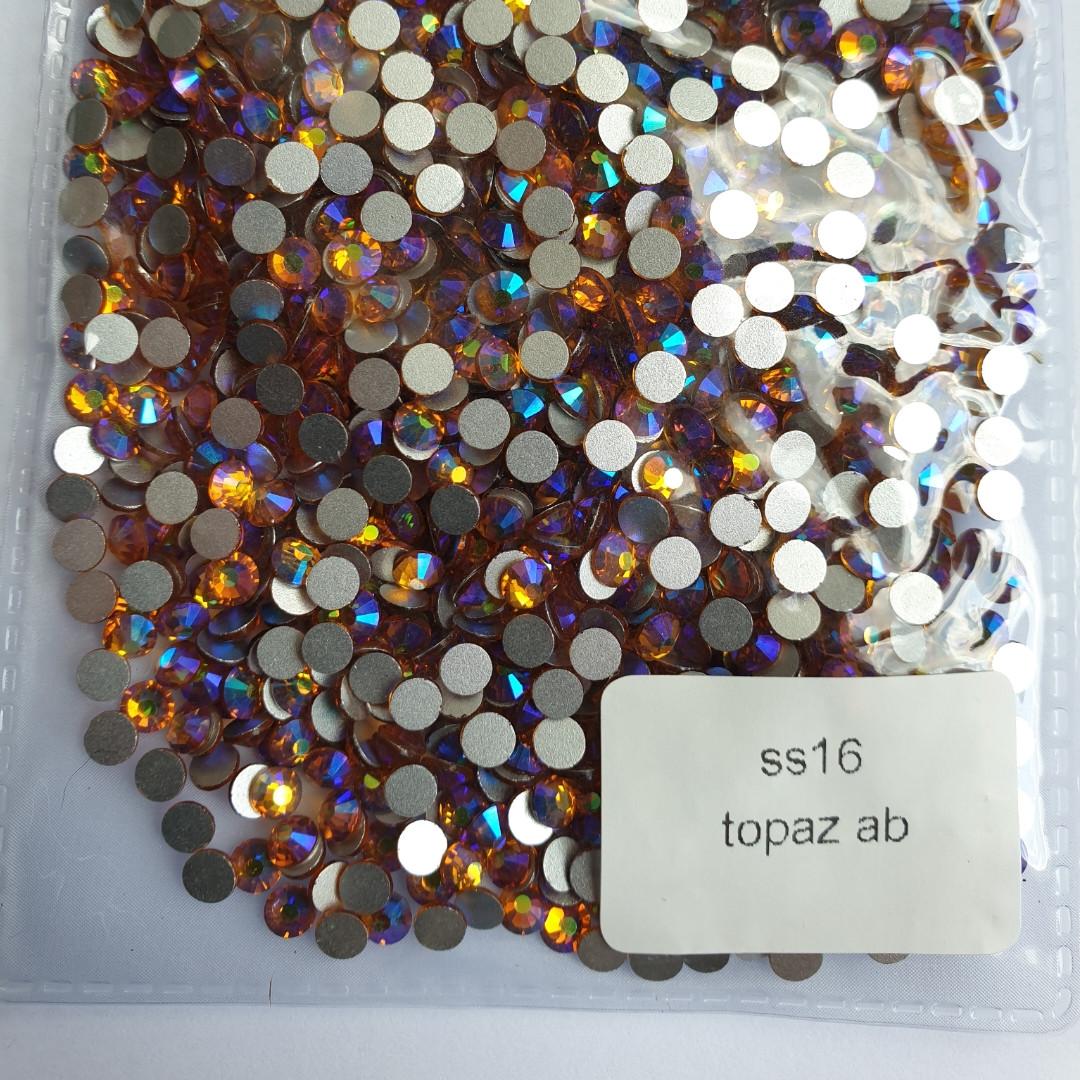 """Стразы ss16 Topaz AB (4,0мм) 1440шт """"Crystal Premium"""""""