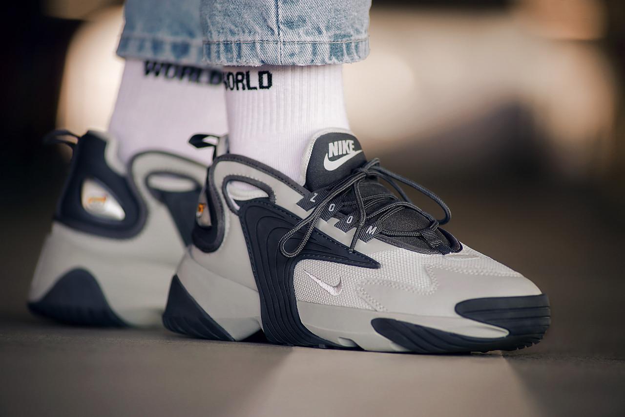 Мужские кроссовки Nike Zoom 2K Wolf Grey ( Реплика ) Остался 44 размер