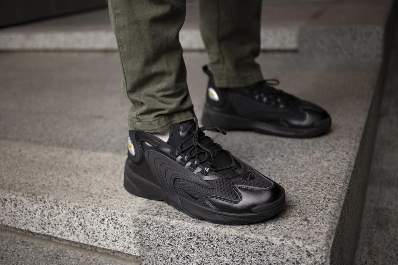 Мужские кроссовки Nike Zoom 2K Triple Black ( Реплика )