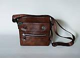 Мужская сумка через плечо Jeep Коричневая 21см х 19см Кожа PU 558 brown Vsem, фото 3
