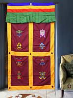 9040387 Занавеска дверная Тибетская с вышивкой №2