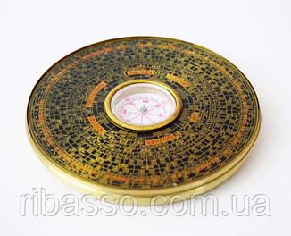 9270023 Компас фэн шуй круглый в металлической коробке