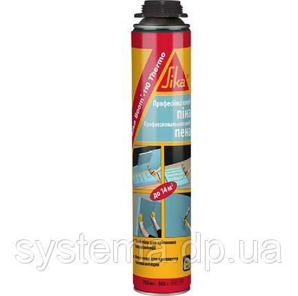 SikaBoom 110 Thermo - Клей-Пена для утеплителя под пистолет, 850 мл, 14 м2, фото 2