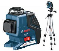 Линейный лазерный нивелир Bosch GLL 2-80 P + BS 150 (штатив)