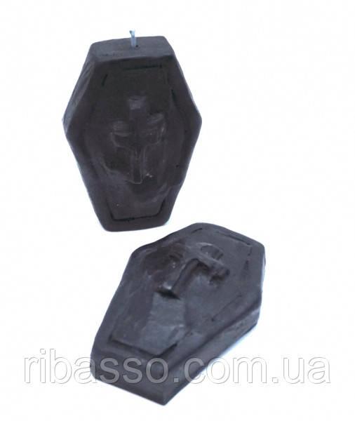 9060057 Свеча восковая Гробик чёрная