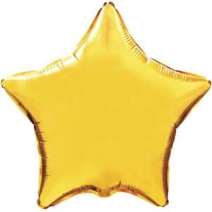 Фольгированный шар Ультра Звезда 30см х 76см Золотой