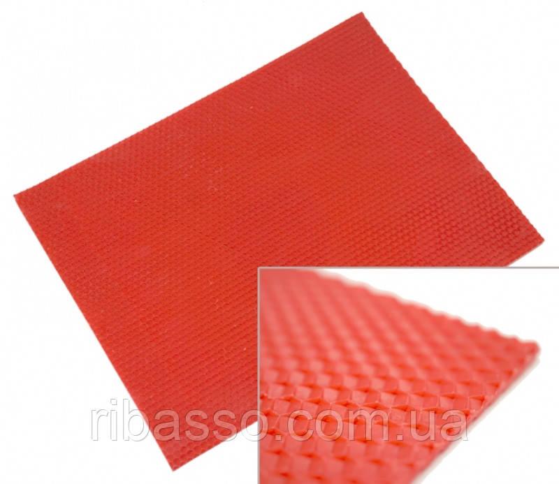9060140 Цветная вощина листовая 10 листов Красная