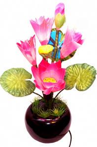 """9050018 Светильник - ночник """"Цветок"""" Розовый"""