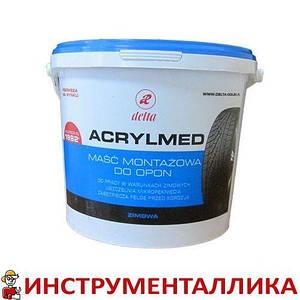 Монтажная паста Acrylmed синяя с герметиком 4 кг Польша