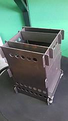 Піч щепотница, міні-піч, складна похідна піч метал