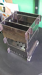 Печь щепотница, мини-печь, складная походная печь нержавейка