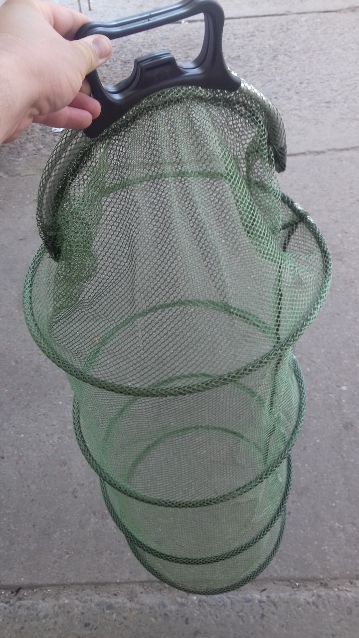 Садок рыболовный капроновый  с ручками 1.6 м , d=0.4 м,  добротный садок для хорошего  улова