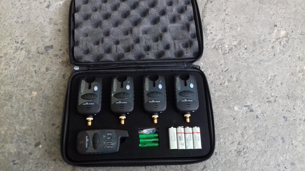 Набор сигнализаторов в кейсе с пейджером 4+1 SAMS FISH (влагостойкие)