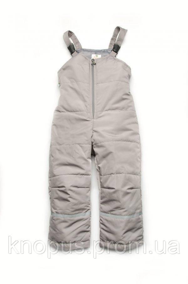 Комбинезон со шлевками демисезонный, серый,  Модный карапуз. Размеры 86-116