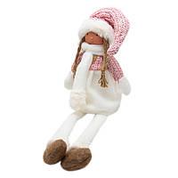 Мягкий декор Девочка с висячими ножками, 52 см, розовый. (460310)
